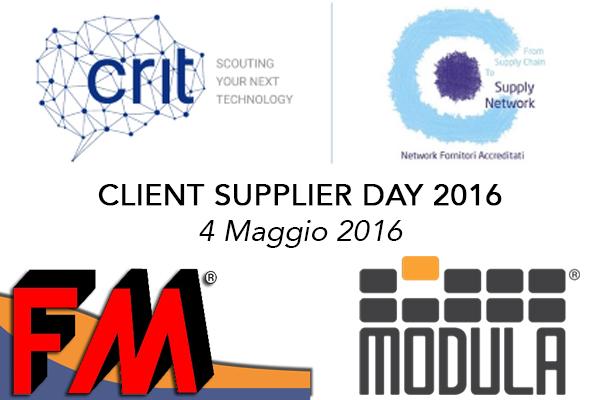 Client/Supplier Day 2016: FM e Modula